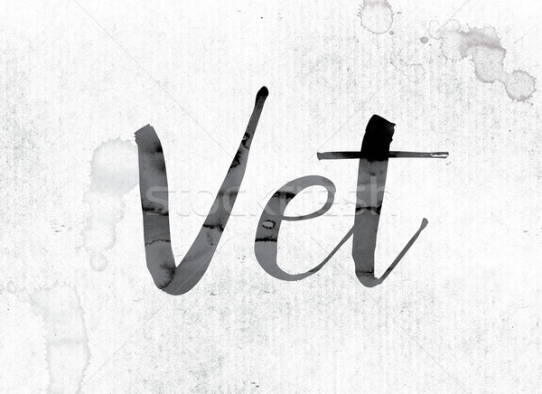 Vet Concept Painted in Ink Stock photo © enterlinedesign