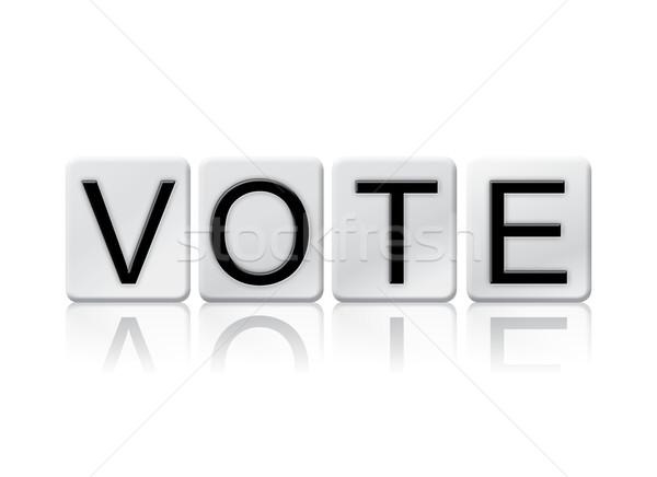 Głosowania odizolowany taflowy litery słowo napisany Zdjęcia stock © enterlinedesign