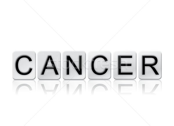 Cancer Concept Tiled Word Isolated on White Stock photo © enterlinedesign