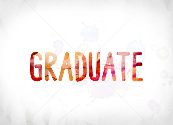 Graduate Concept Painted Watercolor Word Art Stock photo © enterlinedesign