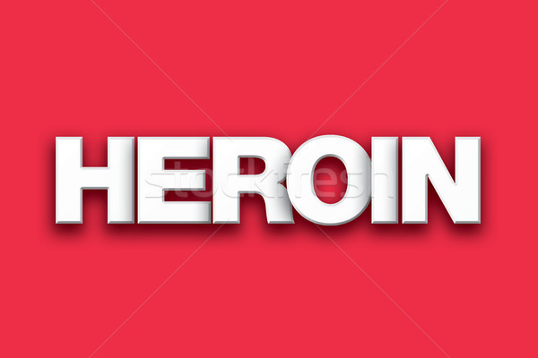 Heroin Theme Word Art on Colorful Background Stock photo © enterlinedesign