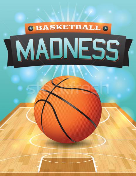 Vector Basketball Flyer Stock photo © enterlinedesign