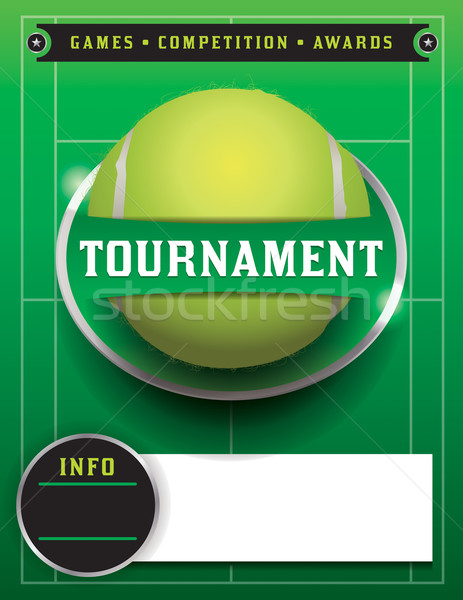 Tennis Tournament Template Illustration Stock photo © enterlinedesign