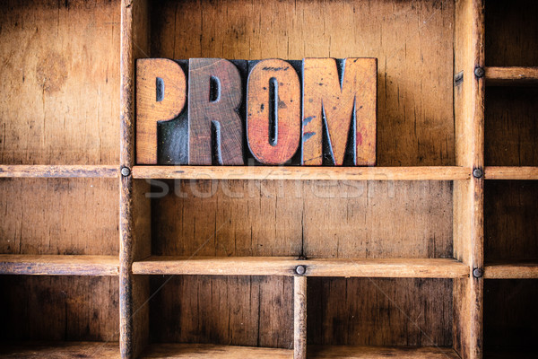 Prom palavra escrito vintage Foto stock © enterlinedesign