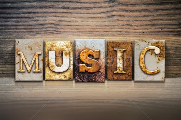 Music Concept Letterpress Theme Stock photo © enterlinedesign