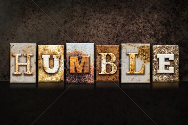 Humilde escuro palavra escrito enferrujado Foto stock © enterlinedesign