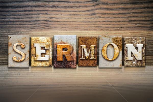 Sermon Concept Letterpress Theme Stock photo © enterlinedesign