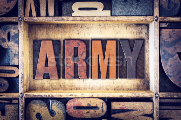 Ordu tip kelime yazılı bağbozumu Stok fotoğraf © enterlinedesign