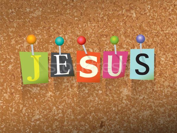Jesus Pinned Paper Concept Illustration Stock photo © enterlinedesign