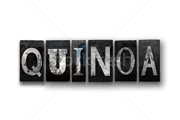 Quinoa Concept Isolated Letterpress Type Stock photo © enterlinedesign