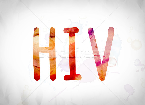 HIV Concept Watercolor Word Art Stock photo © enterlinedesign