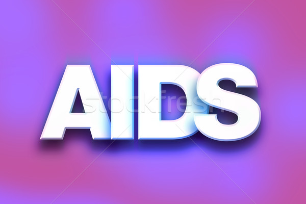 AIDS Concept Colorful Word Art Stock photo © enterlinedesign