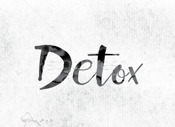 Detox Concept Painted in Ink Stock photo © enterlinedesign