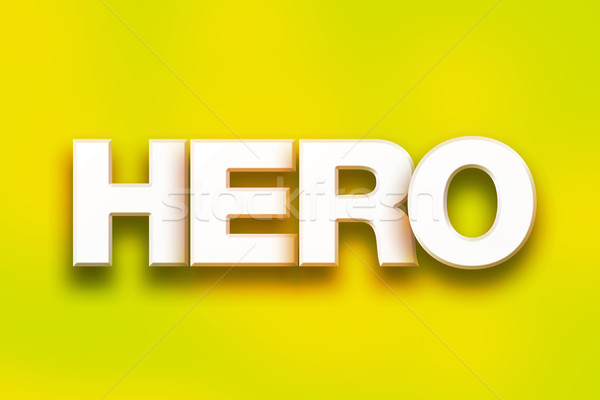 Hero Concept Colorful Word Art Stock photo © enterlinedesign