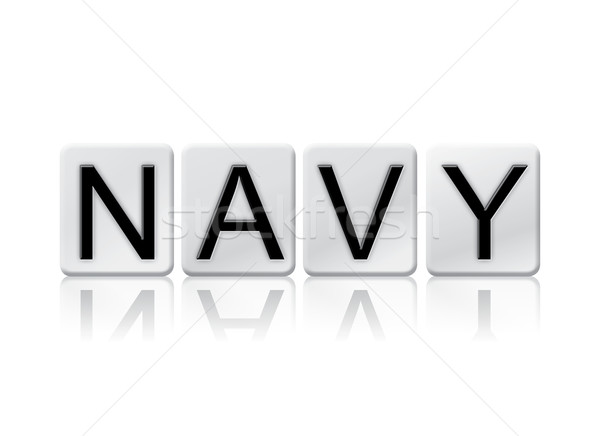 Navy Isolated Tiled Letters Concept and Theme Stock photo © enterlinedesign