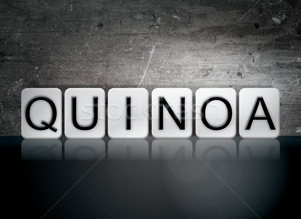 Quinoa Tiled Letters Concept and Theme Stock photo © enterlinedesign