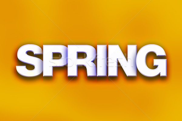 Spring Concept Colorful Word Art Stock photo © enterlinedesign