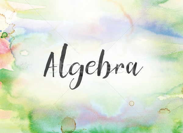 Algebra Concept Watercolor and Ink Painting Stock photo © enterlinedesign