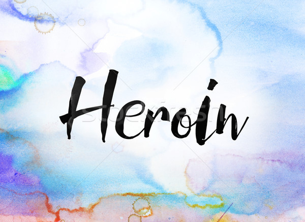 Heroin Concept Watercolor and Ink Painting Stock photo © enterlinedesign