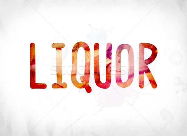 Liquor Concept Painted Watercolor Word Art Stock photo © enterlinedesign
