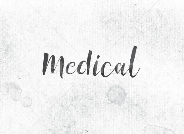 Medical Concept Painted Ink Word and Theme Stock photo © enterlinedesign