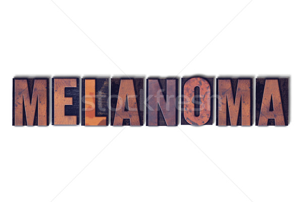 Stock photo: Melanoma Concept Isolated Letterpress Word