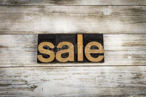 Сток-фото: продажи · слово · написанный · тип