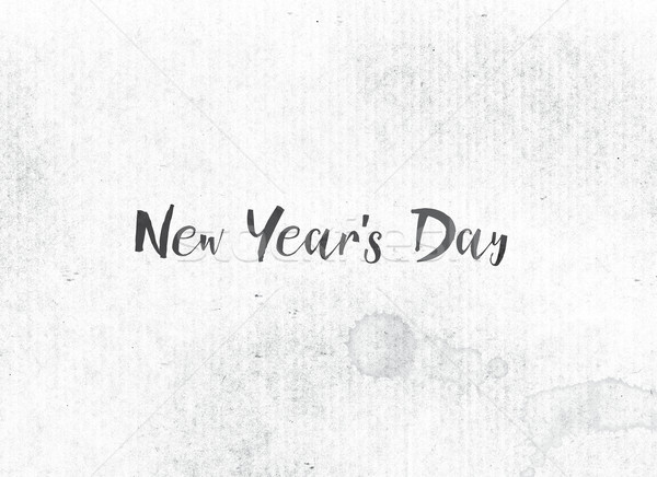 New Year's Day Concept Painted Ink Word and Theme Stock photo © enterlinedesign