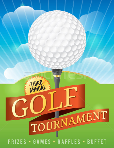 Golf Tournament Design Stock photo © enterlinedesign