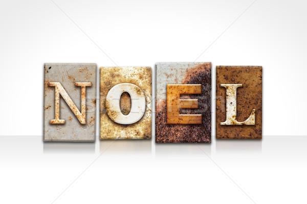 Noel Letterpress Concept Isolated on White Stock photo © enterlinedesign