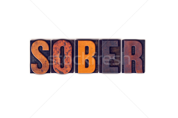 Sober Concept Isolated Letterpress Type Stock photo © enterlinedesign