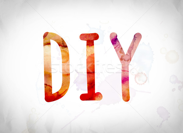 DIY Concept Watercolor Word Art Stock photo © enterlinedesign
