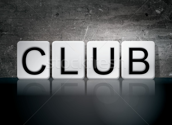Club Tiled Letters Concept and Theme Stock photo © enterlinedesign