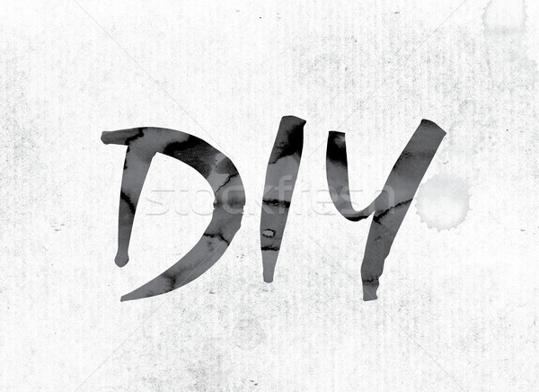 DIY Concept Painted in Ink Stock photo © enterlinedesign