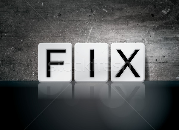 Fix Tiled Letters Concept and Theme Stock photo © enterlinedesign