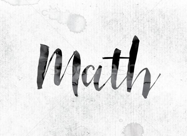 Matemática pintado nosso palavra aquarela branco Foto stock © enterlinedesign