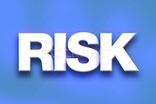 Risk Concept Colorful Word Art Stock photo © enterlinedesign