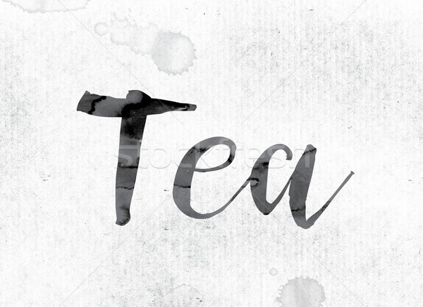 Tea Concept Painted in Ink Stock photo © enterlinedesign
