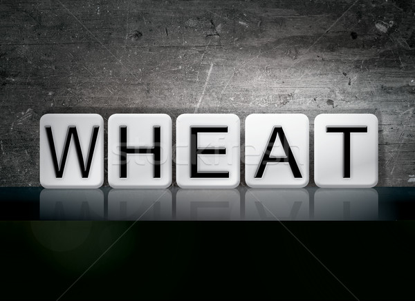 Wheat Tiled Letters Concept and Theme Stock photo © enterlinedesign