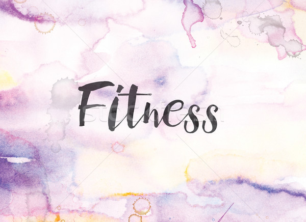 Fitness Concept Watercolor and Ink Painting Stock photo © enterlinedesign