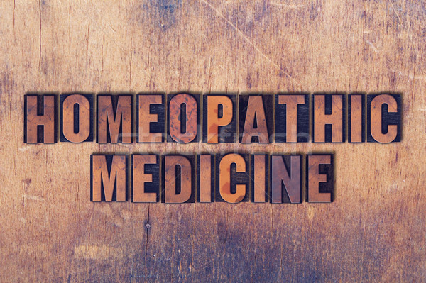 Homeopáticos medicina palabra madera palabras Foto stock © enterlinedesign