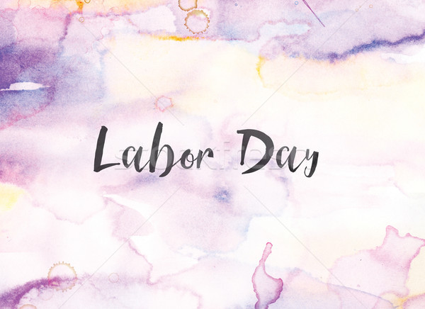 Labor Day Concept Watercolor and Ink Painting Stock photo © enterlinedesign