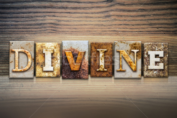 Divine Concept Letterpress Theme Stock photo © enterlinedesign
