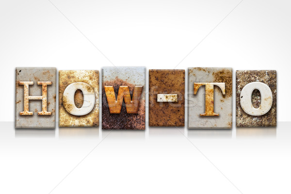 Stock photo: How-To Letterpress Concept Isolated on White