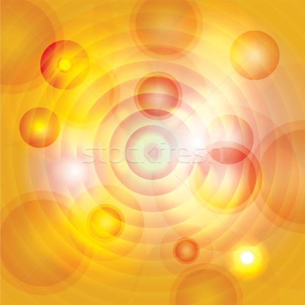 Stok fotoğraf: Soyut · sarı · altın · turuncu · circles · örnek