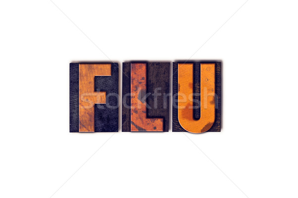Flu Concept Isolated Letterpress Type Stock photo © enterlinedesign