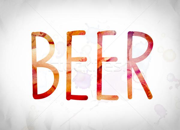 Beer Concept Watercolor Word Art Stock photo © enterlinedesign