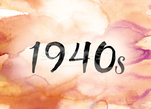 1940s Colorful Watercolor and Ink Word Art Stock photo © enterlinedesign