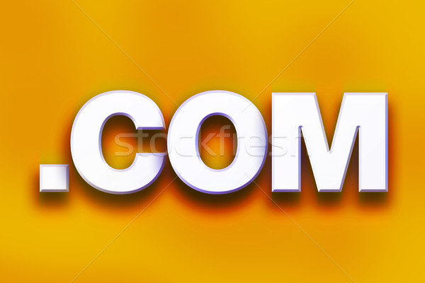 Dot Com Concept Colorful Word Art Stock photo © enterlinedesign