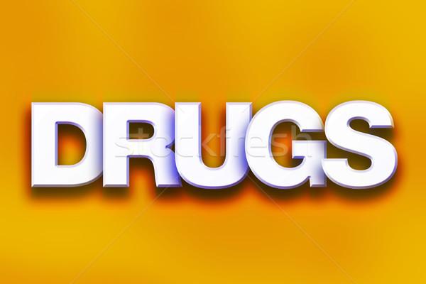 ストックフォト: 薬 · カラフル · 言葉 · 芸術 · 書かれた · 白